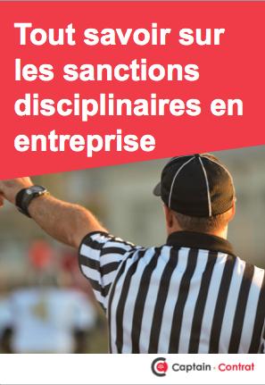 Ebook sanctions disciplinaires en entreprise